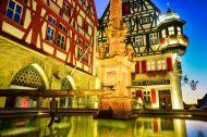 Rothenburg ob der Tauber, a German Medieval WalledCity