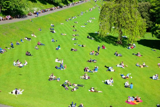 Rare sunny day in Edinburgh.